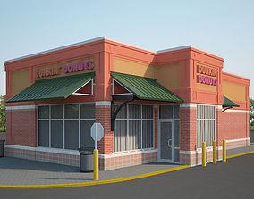 Dunkin Donuts Restaurant 03 3D model