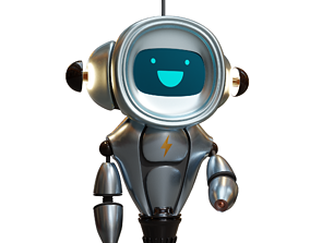 3D Robot Character animated