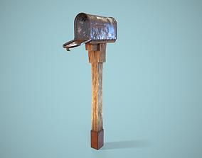 3D asset Old Retro Letterbox