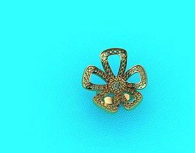 3D print model flower Ring