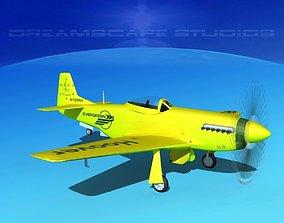 P-51 Mustang Sport Bob Hoover 3D model