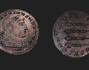 Ancient Bronze Greek Coin 3D model