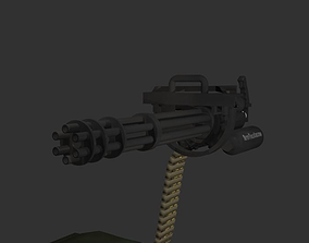 3D model M134 MiniGun GatlingGun