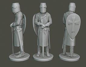 3D printable model Knight Templar Stand T1