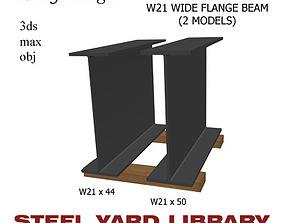 3D model W21 Wide Flange Beam
