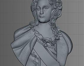 sculpture 3D model of Empress Catherine