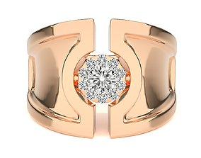 High Jewelry Grooms Gents Mens Cocktail ring 3dm stl