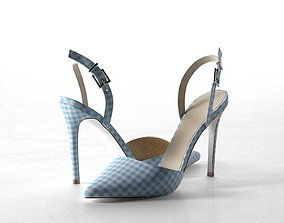 Pyramid Pointed High Heels 3D model