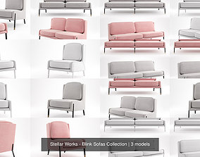 3D model Stellar Works - Blink Sofas Collection