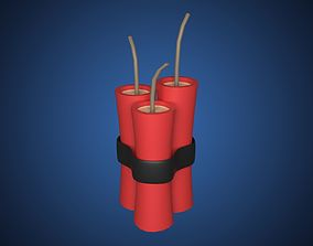 Dynamite Cartoon 3D model