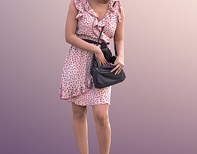 10094 Yanelle - Woman In Summer Dress Looking Through 3D 1