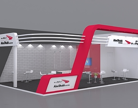 3D model Exhibition Stand Booth 10x6m