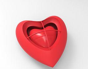 Heart Heart earring 3D print model