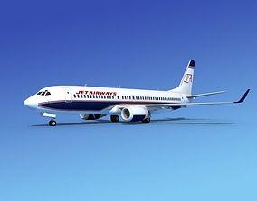 3D Boeing 737-800 Jet Airways