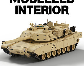 M1A2 Abrams tank with interior 3D model