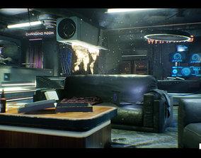 3D asset CyberPunk Sci - Fi Apartment Interior Environment