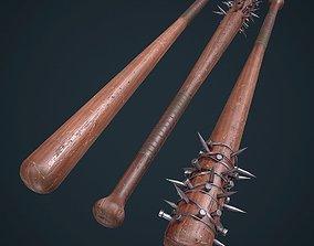 3D asset Game Ready Baseball bat Melee weapon pack