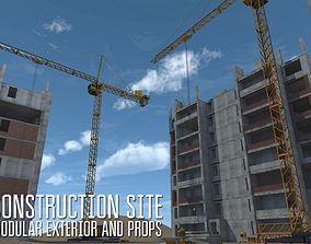 3D asset Construction site - modular exterior and props