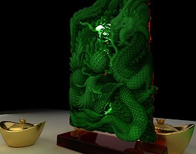 Chinese Dragon and Phoenix with Yuanbao 3D