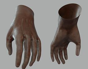 Leather Gloves PBR 4k Low Poly 3D asset