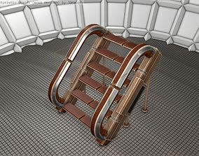 Wood Stairs - Construction Element 12 3D model low-poly
