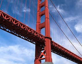model 3D Golden Gate Bridge