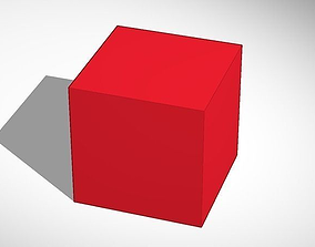 3D model Red cube done in Tinkercad