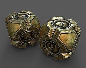 3D asset Gold Dices