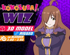rigged Wiz - Konosuba anime Model 3D