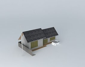 house Small vacation cottage 3D