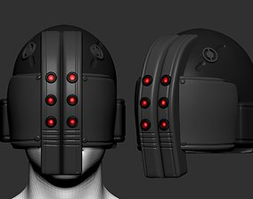 sci-fi helmet high poly sculpt 3d printable 3D model