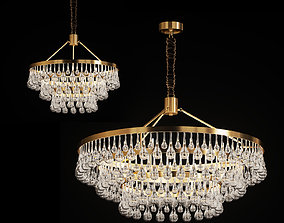 3D model Designer chandelier with glass drops decor