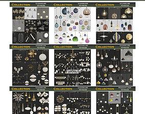 chandelier Chandeliers 3d models mega pack 100 pieces