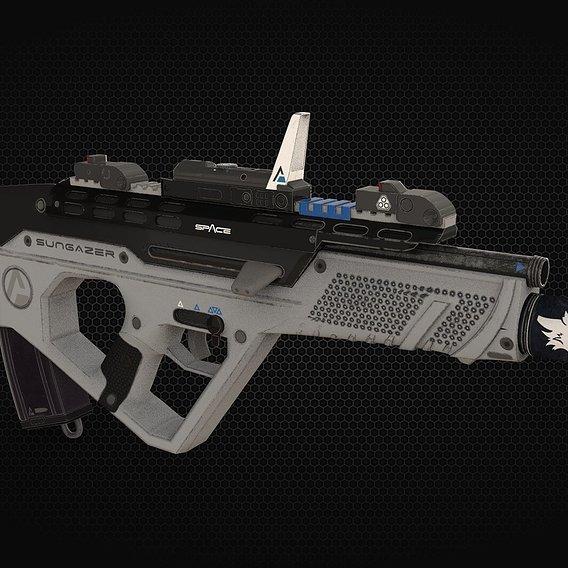 "Quicksilver Industries: ""Sungazer"" Assault Rifle"