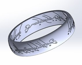 Lord Of The Rings Ring - The One Ring 3D