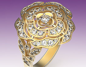 3D printable model Ring Camellia