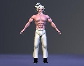 Buu and Goku Super Saiyan Fusion 3D model