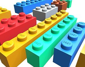 Lego collection 3D asset