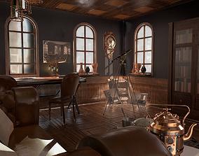 Steampunk interior 3D asset
