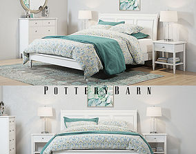 Pottery Barn Crosby White Bedroom set 3D