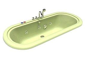 Bathroom Bathtub Hot Tub 3D model