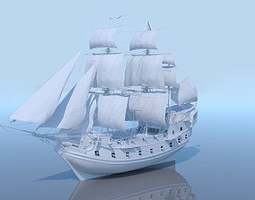 Galeon ship 3D model