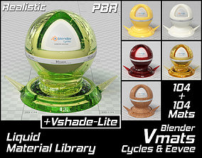 VMATS Liquid Material Library for Blender 3D model 2