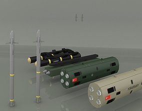 Cirit and Umtas Missile 3D model