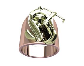 Dangerous Skull Head Ring 3D printable model