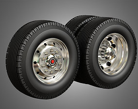Fire Truck Tire and Rims 3D