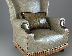 Armchair with pillow2 3D