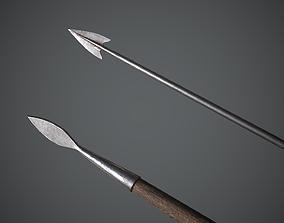 Javelin Medieval 3D asset
