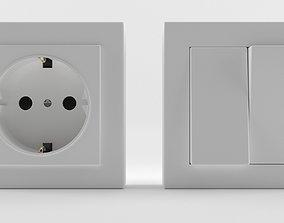 elt Europe Switches-Socket 3D Model