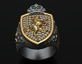 men ring Lannister 3D print model